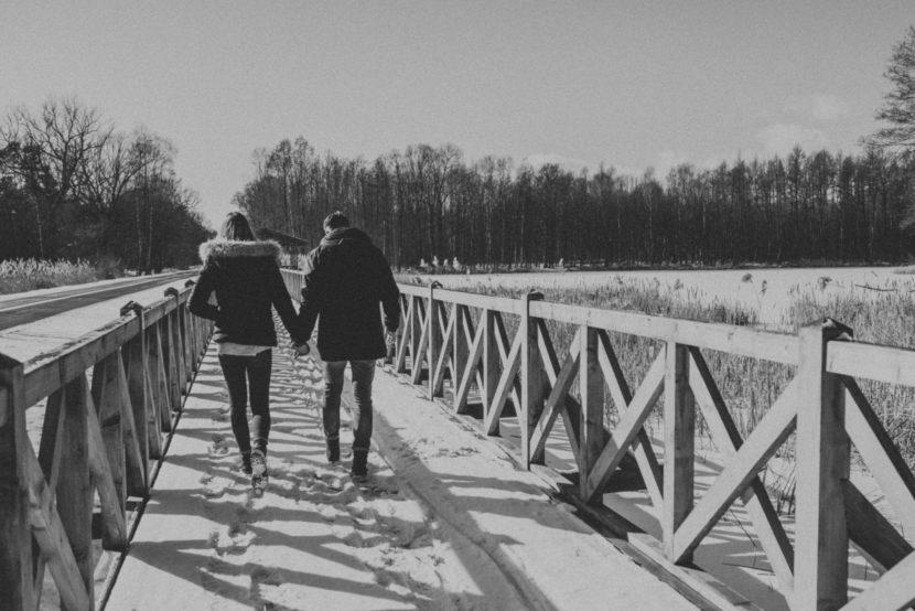 Zimowa sesja Weroniki i Arka